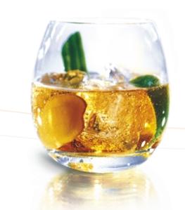 Le cocktail à base de cognac présenté aux invités à Bruxelles