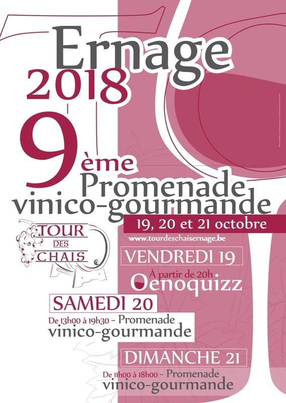 """9ème """"Tour des Chais"""", à Ernage, du 19 au 21 Octobre"""